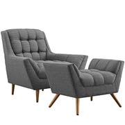 Modway Response Living Room Set - Set of 2 in Gray (889654074571)