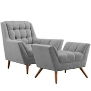 Modway Response Living Room Set - Set of 2 in Expectation Gray (889654074588)