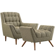 Modway Response Living Room Set - Set of 2 in Oatmeal (889654074601)