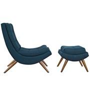 Ramp Fabric Lounge Chair Set in Azure (889654040989)