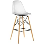 Pyramid Dining Side Bar Stool Set of 4 in Clear (889654077152)