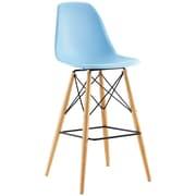 Pyramid Dining Side Bar Stool Set of 4 in Light Blue (889654077169)