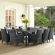 """Summon 90"""" Outdoor Patio Dining Table in Gray (889654027355)"""