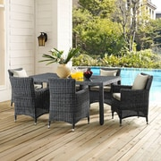 """Summon 70"""" Outdoor Patio Dining Table in Gray (889654027324)"""