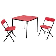 Cosco 2 Piece Center Fold Table and 2 Chairs Red (37334RBK1E)