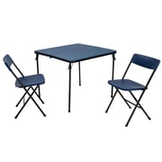 Cosco 2 Piece Center Fold Table and 2 Chairs Blue (37334DBK1E)