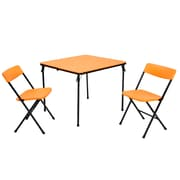 Cosco 2 Piece Center Fold Table and 2 Chairs Orange (37334ONB1E)