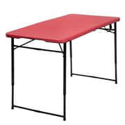 Cosco Adjustable Height Center Fold Table Red (14402RBK1E)
