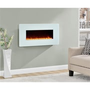 "Altra Kenna 35"" Wall Mounted Electric Fireplace, White (5033196COM)"
