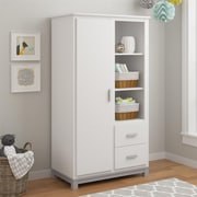 Cosco Leni Armoire, White/Light Slate Gray (5924321COM)