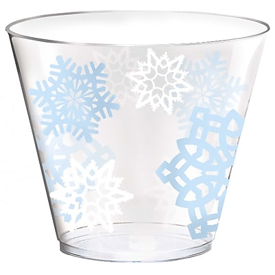 Amscan Snowflake Plastic Tumblers, 9oz (580005) 2537584