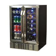 NewAir AWB-360DB 18 Bottle & 58 Can Dual Zone Built-In Compressor Wine and Beverage Cooler