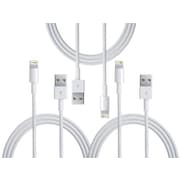 Apple Lightning to USB Cable for iPhone, iPad, iPod - 3 Pack