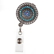 ID Avenue Razzle Dazzle Teal Badge Reel, Silver, Teal