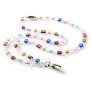 ID Avenue Amethyst Geo Beaded Lanyard, Pink, Blue, Taupe, Green