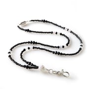 ID Avenue Rodeo Beaded Lanyard, Black, White