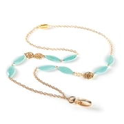 ID Avenue Florence Chain Lanyard, Gold, Green