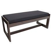 Regency Belcino Double Seat Bench- Mocha Walnut/ Black (BBNCH2148MWBK)