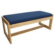 Regency Belcino Double Seat Bench- Medium Oak/ Blue (BBNCH2148MOBE)