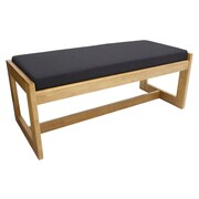 Regency Belcino Double Seat Bench- Medium Oak/ Black (BBNCH2148MOBK)
