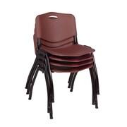 Regency 'M' Stack Chair (4 pack)- Burgundy (4700BY4PK)