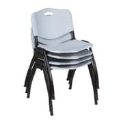 Regency 'M' Stack Chair (4 pack)- Grey (4700GY4PK)