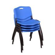 Regency 'M' Stack Chair (4 pack)- Blue (4700BE4PK)