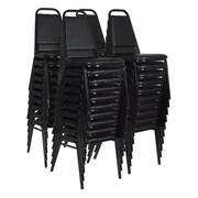 Regency Restaurant Stack Chair (40 pack)- Black (8029BK40PK)
