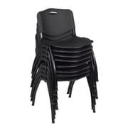 Regency 'M' Stack Chair (8 pack)- Black (4700BK8PK)
