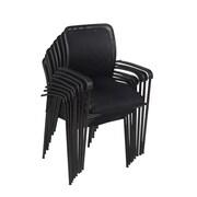 Regency Mario Stack Chair (8 pack)- Black (5275BK8PK)