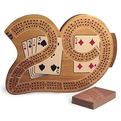 WWI 3 Player 29 Cribbage Board in Wood( WWI583) 2522456