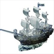 University Games 30958 Deluxe 3D Crystal Puzzle - Pirate Ship Black( ACDD11988)