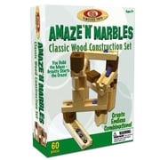 POOF Slinky 60 Piece Amaze N ft. Marbles Classic Wood Construction Set( BB-TPLA-05)