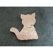 Fine Crafts Wooden 4 piece Cat jigsaw puzzle( FNCRF113)