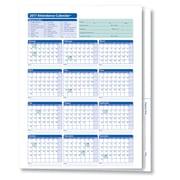 ComplyRight 2017 Attendance Calendar Folder, White, Pack of 25 (A3050)
