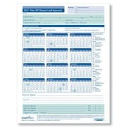 ComplyRight Time Off Request & Approval Calendar, Pack of 25 (A0037PK25)