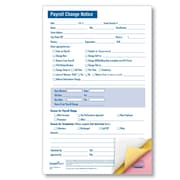 ComplyRight Payroll Change Notice, 3-Part, Small, Pack of 50 (A2173)