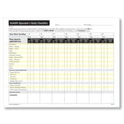 ComplyRight Forklift Operator's Daily Checklist , Pack of 50 (W1732)