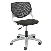 KFI TK2300-P10 KOOL Collection Black Poly 5 Star Base with Casters Chair