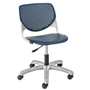 KFI TK2300-P03 KOOL Collection Navy Poly 5 Star Base with Casters Chair