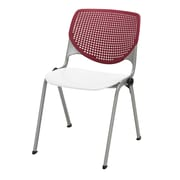 KFI Kool Collection Steel Frame Stack Chair Burgundy & White 2300-BP07-SP08