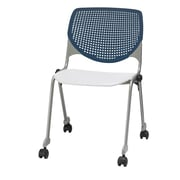 KFI CS200-BP03SP08 KOOL Collection Navy & White Poly Caster Chair