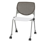 KFI CS200-BP18SP08 KOOL Collection Brownstone & White Poly Caster Chair