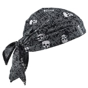Chill-Its 6710CT Evap. Cooling Triangle Hat w/CT, Skulls,  (12589)