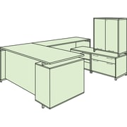 "Regency OneDesk 71"" U-Desk with 60"" Lateral File/ Open Storage Cabinet Low Credenza and Tower- Java (ONUS719271JV)"