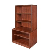 "Regency Sandia 20"" Open Storage Cabinet with Open Hutch featuring Lockdowel Assembly- Cherry (SBKH3055CH)"