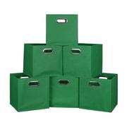Niche Cubo Set of 6 Foldable Fabric Storage Bins- Green (HTOTE6PKGN)