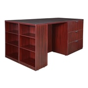 Regency Legacy Stand Up 2 Lateral File/ Storage Cabinet/ Desk Quad with Bookcase End- Mahogany (LS2LFSCSD8546MH)