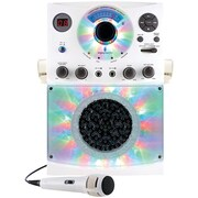 Bluetooth® Karaoke System with LED Disco Lights & Microphone (White)