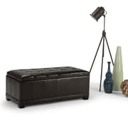 Westchester Faux Leather Storage Ottoman in Tanners Brown (3AXCOT-245-TC)